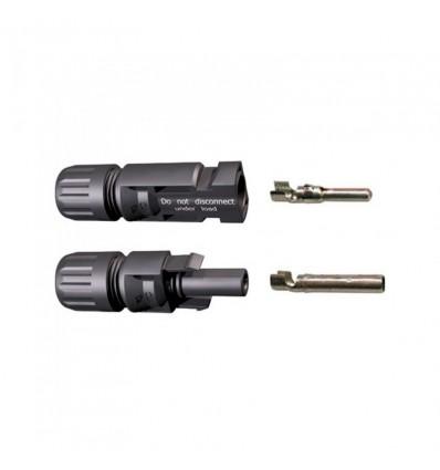 Jeu de connecteurs 4 à 6 mm² MC4 mâle et MC4 femelle