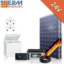 Kits 12/24V photovoltaïques (Eclairage et Réfrigération)