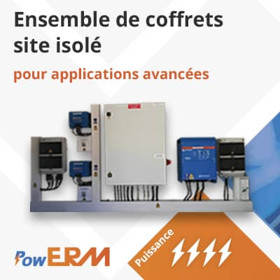 Alimentation solaire PowERM site isole carpentras